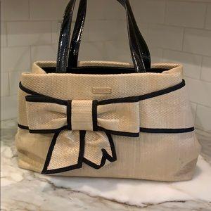 Kate Spade straw bow purse